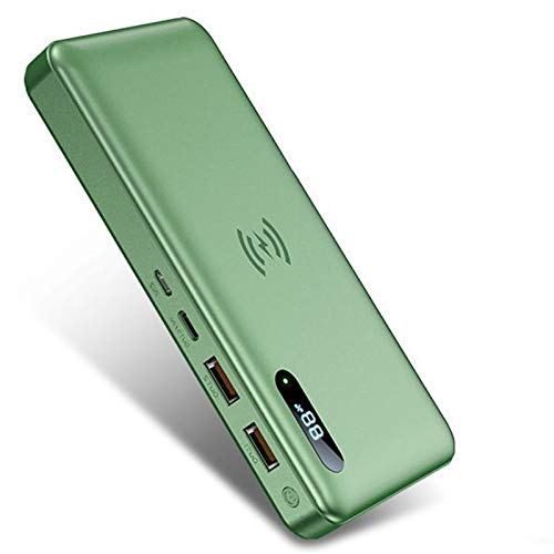 Batería Externa 50000Mah Cargador Portátil Móvil Inalámbrico 15W, PD 65W QC 3.0 Carga Rapida Power Bank Batería Externa con 4 Salidas Y 2 Entradas Y Display LCD