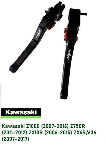 Motocicletta kit leve regolabile di frizione di freno per Kawasaki Z1000 (2007-2016) Z750R (2011-2012) ZX10R (2006-2015) ZX6R/636 (2007-2017) Corto