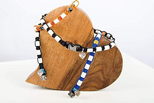 EM-Keramik Halsband für Hunde, Maßanfertigung aus Trendmaterial Paracord. Effektive Mikroorganismen EM Keramik, Schmuckhalsband für Hunde. Beschreibung beachten!