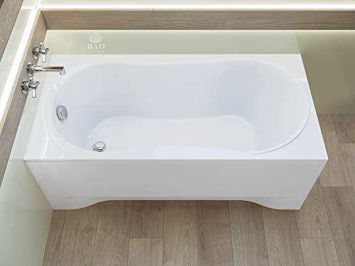 BADLAND Rechteck Badewanne Gracja 170x70 mit Acrylschürze, Füßen und Ablaufgarnitur GRATIS