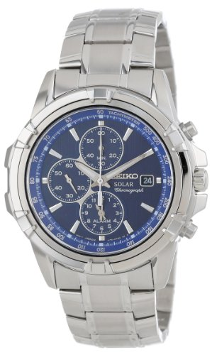 Seiko Men's SSC141 Stainless Steel Solar...