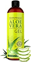 Aloe Vera Gel - 99% Organic, Big 12 oz - NO XANTHAN, so it Absorbs Rapidly with No Sticky Residue - made from REAL JUICE,...