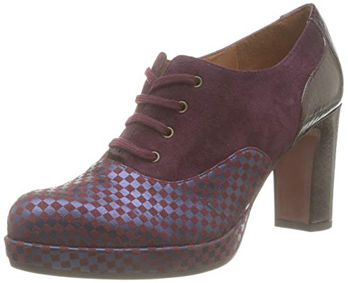 Chie Mihara Joop, Zapatos de Cordones Oxford para Mujer, Rojo (Chess Grape Ante Grape Nilo Grape Grape), 38 EU