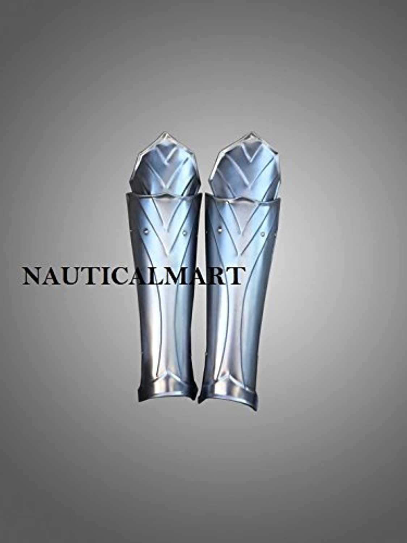 NAUTICALMART Leg Armor Queen of The Lake- Lady Warrior Steel Greaves