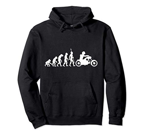 Evolution motociclista motocicleta motociclismo biker Sudadera con Capucha