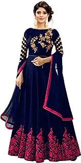 Home Fashion Women's Faux Georgette & Santoon Semi-stitched Salwar Suit