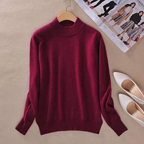 GUORUIMIN trui voor vrouwen, bordeaux zachte vrouwen Candy kleur coltrui truien casual basic jumpers herfst winter warm slanke trui