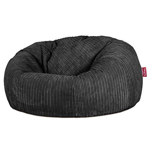 Lounge Pug®, Pouf Canapé Classique, Pouf Geant, Côtelé Noir