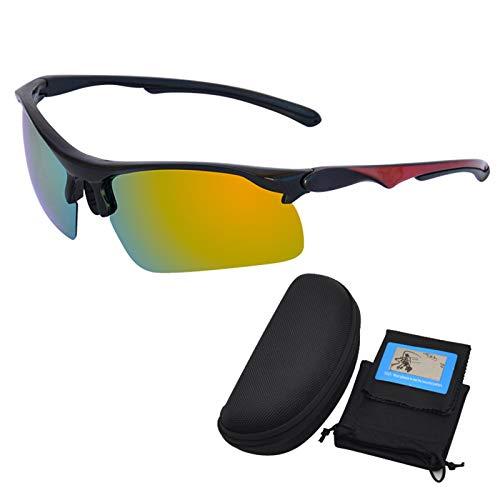 Gafas de Sol fotocromáticas para Hombres Mujeres Ciclismo Seguridad Deporte Protección UV Gafas de Sol Transiciones Conducción Pesca Ciclismo Deportes al Aire Libre,Amarillo