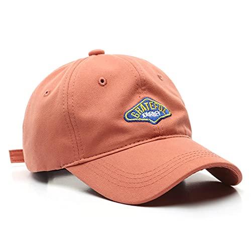 XMYNB Baseball Cap Baseball Cap For Women And Men Embroidery Hats Casual Snapback Hat Cotton Cap Hip Hop Caps Unisex Brick RedAdjustable