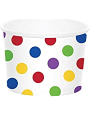 Creative Converting 329640 TREAT CUP, MULTICOLOR DOTS, 8.5""