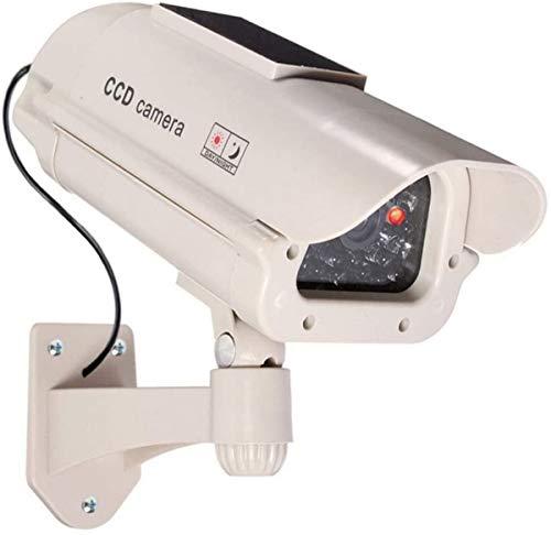 1 Große Dummy Kamera Solar Attrappe mit Objektiv mit blinkendem Licht für Innen und Aussen wasserdicht hochwertig