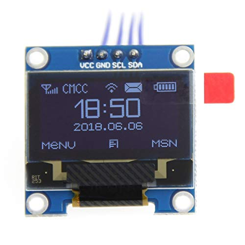 SHTAO 1pc White Color 0.96 Inch Oled Display Module 128 * 64 Oled Lcd Display I2C 0.96 Iic Serial 128x64 Replacement