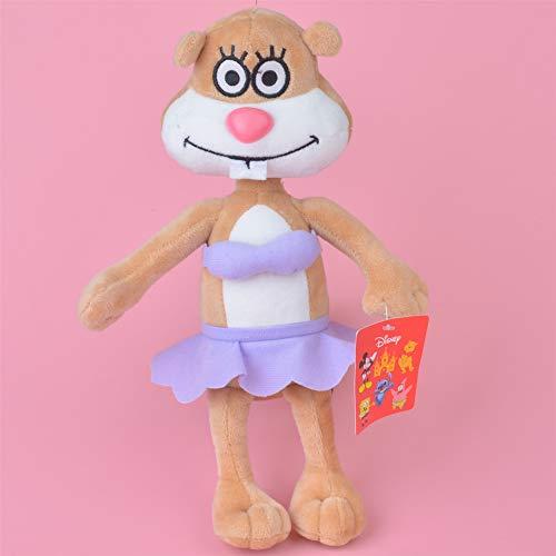Yzhome 25Cm Anime Spongebob Sandy Eichhörnchen Baby Kinder Puppe Geschenk, Schöne Gefüllte Plüschtier Niedliche Weiche Puppe Familie Dekoration Plüsch Kissen