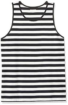 Amazon Essentials Men s Regular-fit Tank Top Black/White Stripe X-Large