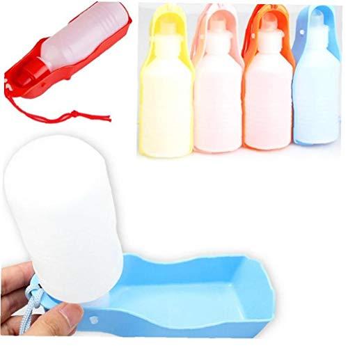 Zonster Portátiles Botellas Pet Dispensador De Agua De La Botella Plástica del Viaje del Perro De Agua para Paseos Diarios Recorrido Que Acampa (Color Azar)