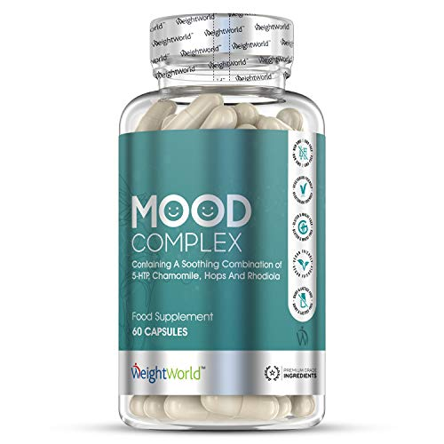 Mood Complex - 60 Capsules - High Strength Mood Balance Supplement with Magnesium, Zinc, Vitamin B Complex & 5HTP for Feeling Good, Premium Relief, Vegan & Vegetarian Friendly Natural Formula