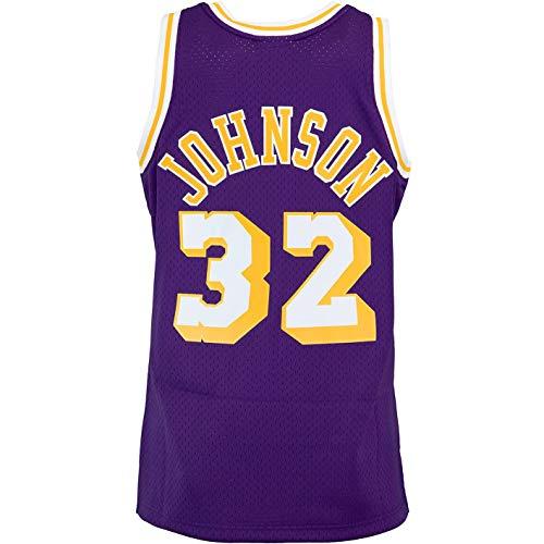 Mitchell & Ness Swingman Magic Johnson L.A. Lakers 84/85 Trikot (L, Violet)