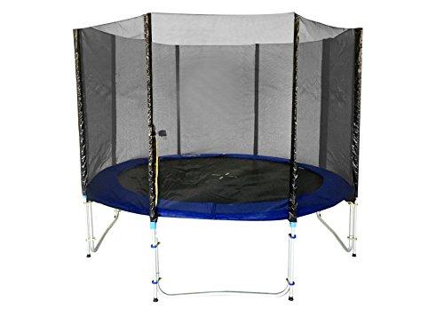 Exacme Trampolino Giardino trampolino con scaletta Set completo di testata TÜV SÜD GS, Blau, Ø 366 cm