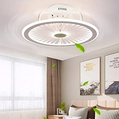 Ventiladores De Techo Con Luces Control Remoto Regulable 56W Led Ventilador De 3 Velocidades Temporizador De Luz De Techo Lámpara De Ultra Techo Invisible Lámpara De Ventilador Moderna Blanco