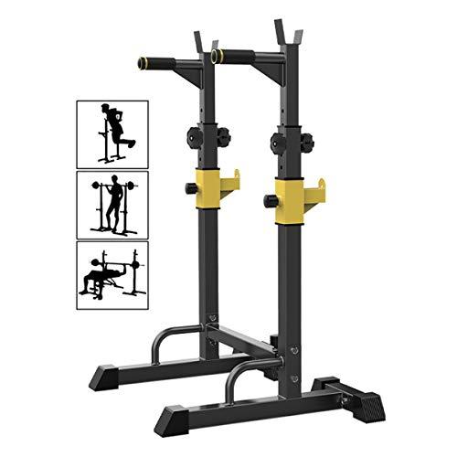 WSJIANP Verstärkte Kniebeugenständer - Max. bis 250 kg belastbar Langhantelablage - Muskeltraining Squat Rack - Bankdrücken Multifunktional Hantelständer - für Home Krafttraining Stand Fitness