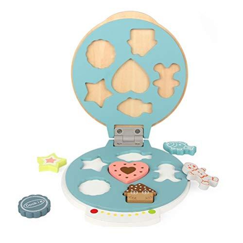 WLPTION Juguete de cocina Mini gofres Fabricante de Alimentos Juguetes de Waffle, Máquina de Parrilla, Panqueques, Galletas, DIY Juega Juguetes de Cocina para Niños