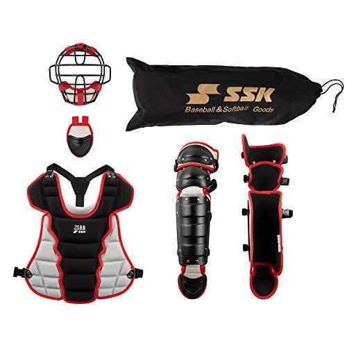 SSK(エスエスケイ)少年軟式用キャッチャーズ4点セット(専用バック付) CGSET20JNC ブラック×シルバーグレー(9096)