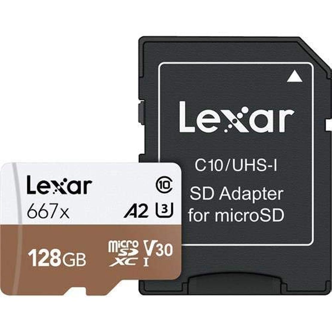 計器接続名門レキサープロフェッショナル667 x 128GB microSDXC UHS-I / U3カード(LSDMI128BNA667A)