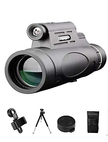 Monocular Telescope, 12x50 High Power HD Monocular for Bird Watching Adults with Smartphone Holder & Tripod BAK4 Prism for Wildlife Hunting Camping Travelling Wildlife - 2020 Newest