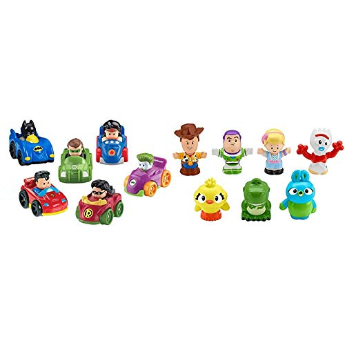 Fisher-Price Little People DC Super Friends, Wheelies Gift Set (6 Pack) [Amazon Exclusive] & Disney Toy Story 4, 7 Friends...