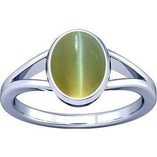Divya Shakti Anillo de plata de 3,25-3,50 quilates (anillo de piedra de LEHSUNIA) 100% original de calidad AAA