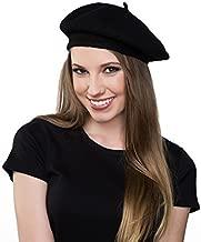 Kangaroo Wool Black Beret Hat - French Beret
