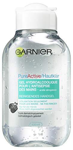 Garnier Hand Desinfektionsgel mit pflanzlichem Glycerin, desinfizierende Reinigung in Reisegröße, 100ml