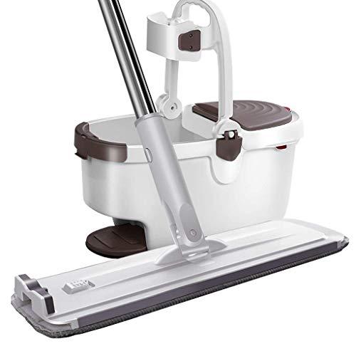 Herramientas de Limpieza Fregona de Microfibra Blanca Fregona Perezosa giratoria para Pisos de Madera para el hogar Productos de Limpieza para el hogar (sin Lavar a Mano) Fregona d