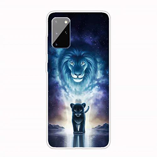 Lanpangzi Kompatibel mit Samsung Galaxy A42(5G) Hülle + 2*Displayschutzfolie TPU Silikon Transparent Ultradünn Handyhülle Anti-Kratzer Schutzhülle - Der König der Löwen
