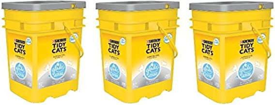 Purina Tidy Cats Glade Tough Odor Solutions Clear Springs Clumping Cat Litter, 35 lb - 3 Pails