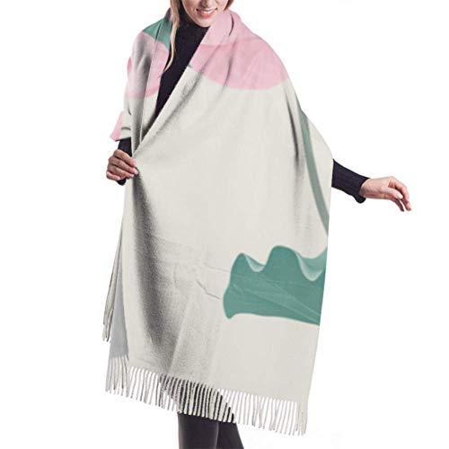 Lawenp 27 'x77' Chal de abrigo suave Cómodo y silencioso Movimiento de fitness Bufanda de yoga Cachemira Mujer Chal Abrigo Elegante Manta grande y cálida