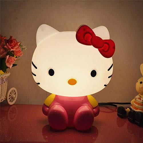 Nachtlicht für Kinder LED Nachtlicht, tragbare USB wiederaufladbare Silikon Nachttischlampe Mehrfarbiges Licht Hello Kitty Nachttischdekoration Lampe-konventionell_Cartoon Katze rosa La