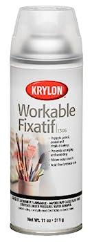 Krylon K01306 Workable Fixatif Spray Clear 11-Ounce Aerosol,Matte