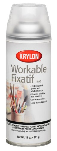 Krylon K01306 Workable Fixatif Spray Clear, 11-Ounce Aerosol