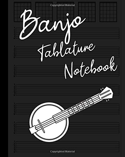 Blank Sheet Music: 6 String Banjo Tablature Notebook: 100 Pages * 10 Staves (8