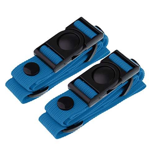 SM SunniMix Arnés de Pecho con Correas de Esternón de Nailon Ajustable Universal 2 Piezas - Azul, 73x2.5cm