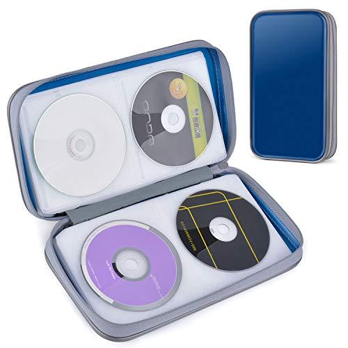 CD/DVD-Tasche Mappe, Tinksky CD Tasche für 80 CD/DVD Wallet,CD-Aufbewahrung Schutz für DVDs/CDs