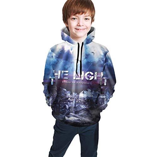Hidend Sweat-Shirt à Capuche pour Enfants,Sweat à Capuche Garçon, The Light Fashion Teen Hooded Sweater Black