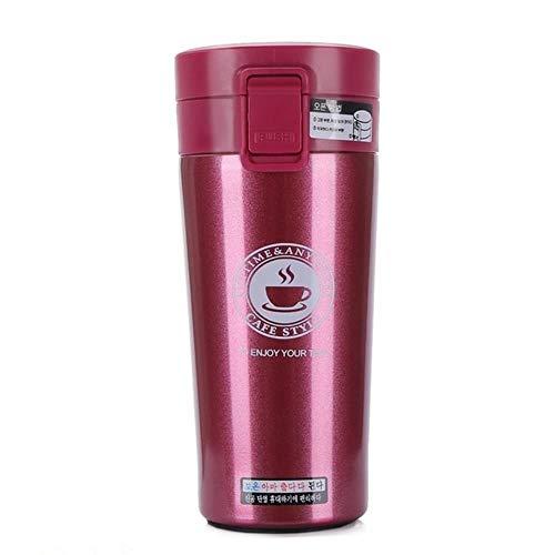 Rainandsnow Termo de acero inoxidable termo termo termo termo termo taza taza taza térmica de viaje botella termo rojo
