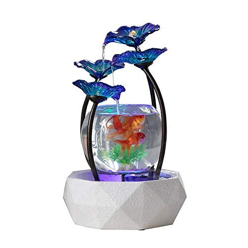 Creatieve glazen aquarium, fontein goudvis tank, aquarium met LED-verlichting, voor thuis/op kantoor decoratie of als cadeau aan een goede vriend