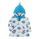 Zoocchini Unisex Baby Accappatoio Cover Up UPF 50+, Sherman Lo Squalo Rashguard, Blau (Shark Shark), One Size (Herstellergröße: M/L 12-24M)