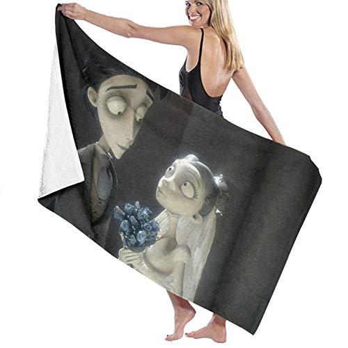 T-im Burton's C-Orpse Bride Toallas de baño de microfibra de secado rápido para mujeres/niños/hombre, toalla de baño extra grande para senderismo, natación, campamento/ducha