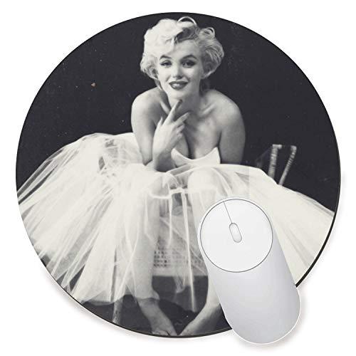 Round Gaming Mouse Pad Creative Custom Non-Slip Mouse Mat-Beautiful Women Marilyn Monroe