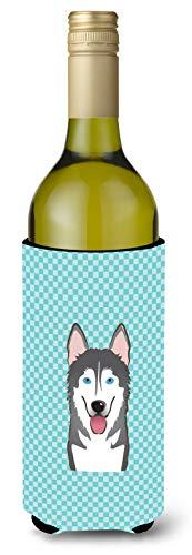 Damier Bleu Alaskan Malamute Hugger Unknown Koozie Refroidisseur BB1156LITERK de bouteille de vin